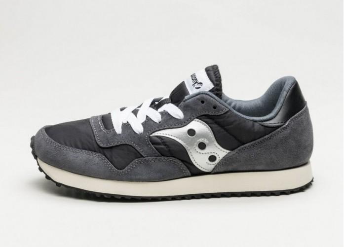 Мужские кроссовки Saucony DXN Trainer Vintage (Black / Silver)   Интернет-магазин Sole