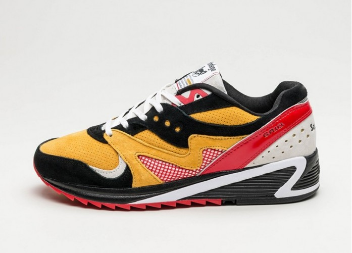 Мужские кроссовки Saucony x Bodega Grid 8000 CL (Black / Yellow / White) | Интернет-магазин Sole