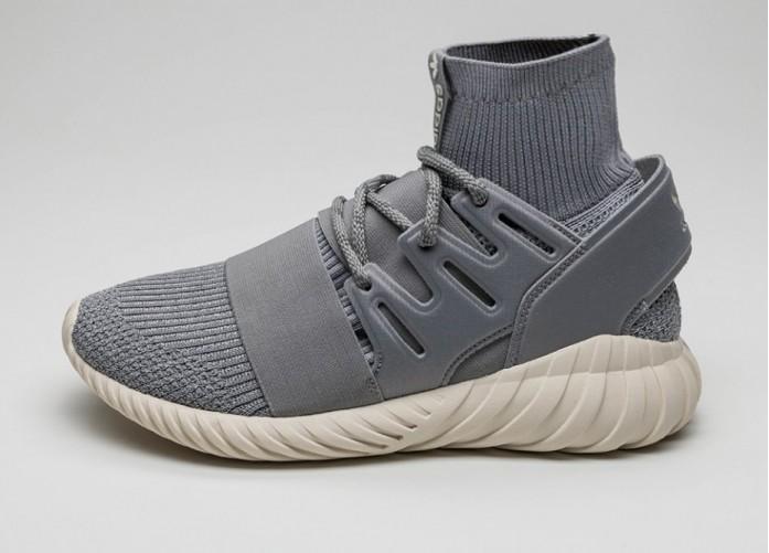 Мужские кроссовки adidas Tubular Doom Primeknit (Solid Grey / Solid Grey / Vintage White) | Интернет-магазин Sole