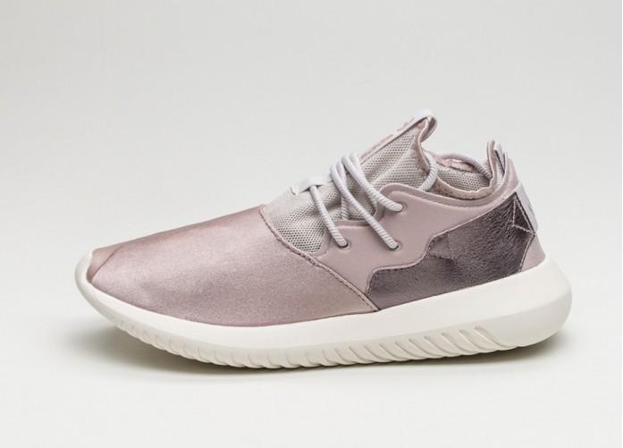 Мужские кроссовки adidas Tubular Entrap W (Vapour Grey Metallic / Ice Purple / Core White) | Интернет-магазин Sole