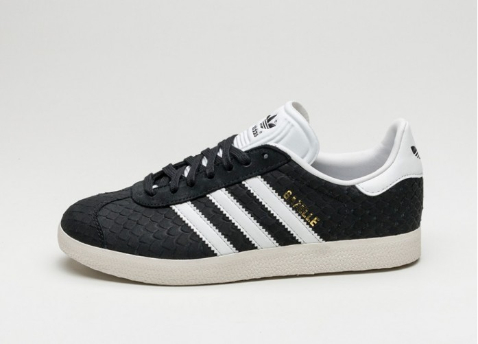 Мужские кроссовки adidas Gazelle W (Core Black / Crystal White / Chalk White) | Интернет-магазин Sole