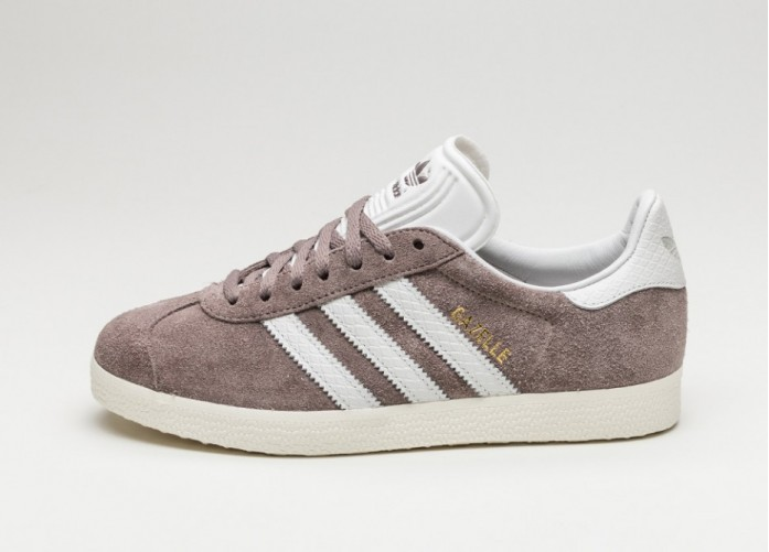 Мужские кроссовки adidas Gazelle W (Tech Earth / Vintage White / Gold Metallic) | Интернет-магазин Sole