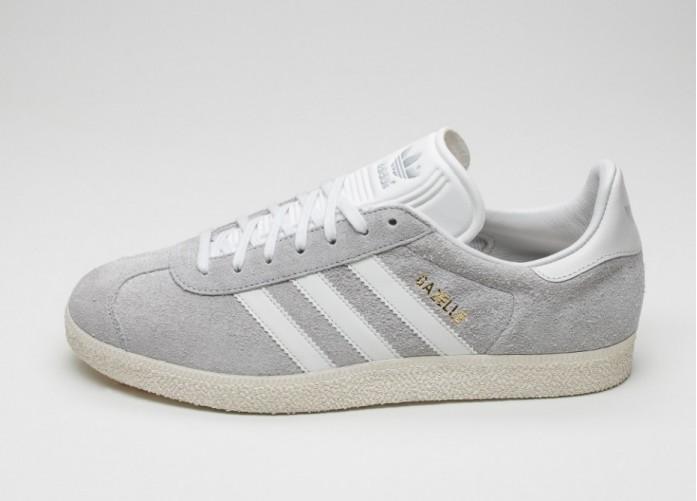Мужские кроссовки adidas Gazelle (Clear Onix / White / Gold Metallic) | Интернет-магазин Sole
