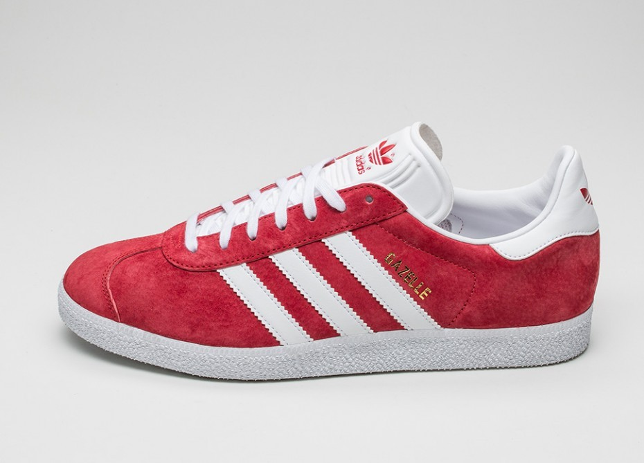 separation shoes 24cc1 98a88 Мужские кроссовки adidas Gazelle (Scarlet  Ftwr White  Gold Metallic)   Интернет-