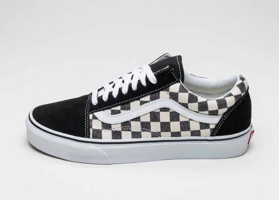 Мужские кроссовки Vans Old Skool  Checkerboard  (Black   Espresso ... 13b297d4ff697