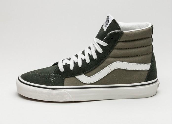 Мужские кроссовки Vans Sk8-Hi Reissue *2 Tone* (Duffle Bag / Burnt Olive) | Интернет-магазин Sole