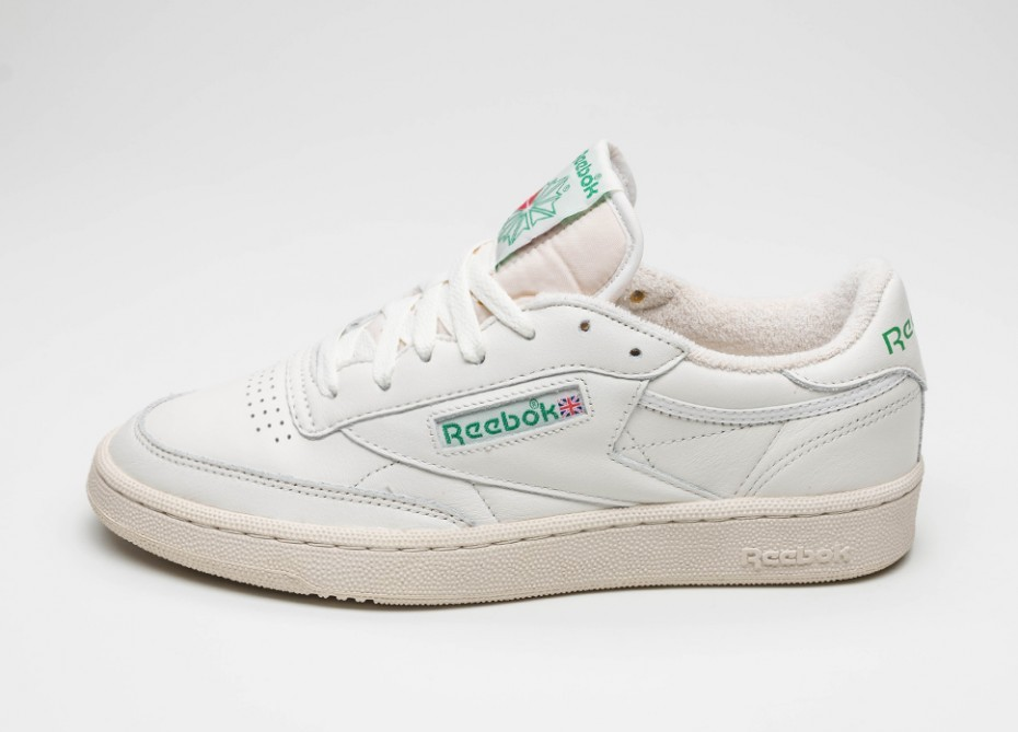 76dc02b7bfe9 Кроссовки Reebok Club C 85 Vintage (Chalk   Paperwhite   Glen Green   Excellent  Red