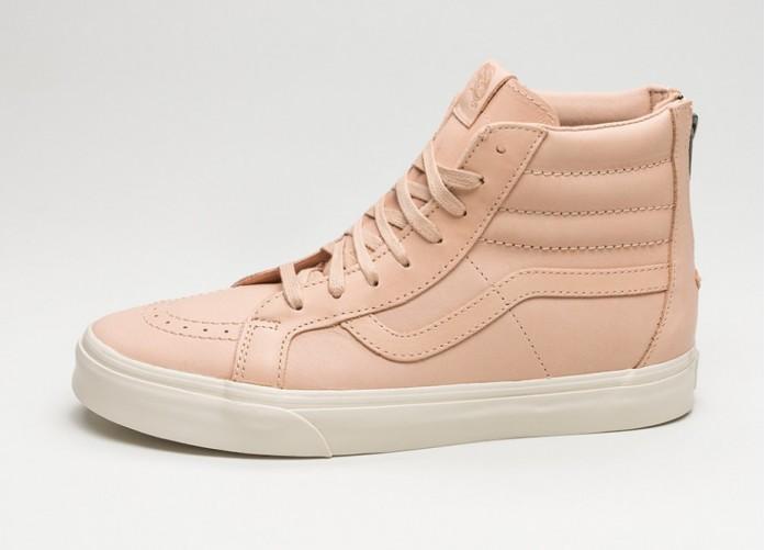 Мужские кроссовки Vans SK8-Hi Reissue Zip *Veggie Tan Leather* (Tan) | Интернет-магазин Sole