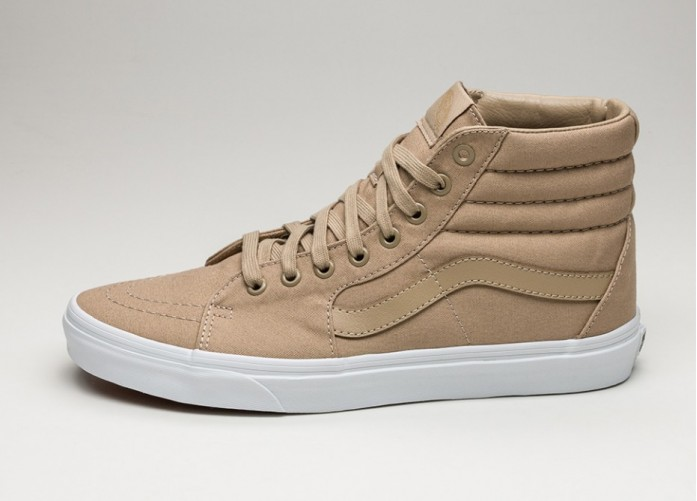 Мужские кроссовки Vans Sk8-Hi Zip *Mono Canvas* (Khaki / True White) | Интернет-магазин Sole