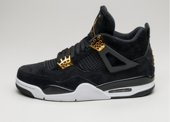 3619fc14 Женские кроссовки Nike Air Jordan 4 Retro *Royalty* (Black / Metallic Gold -