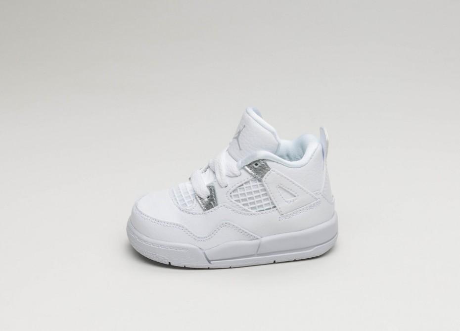 4ac57c02639 Женские кроссовки Nike Air Jordan 4 Retro *Pure Money* TD (White / Metallic