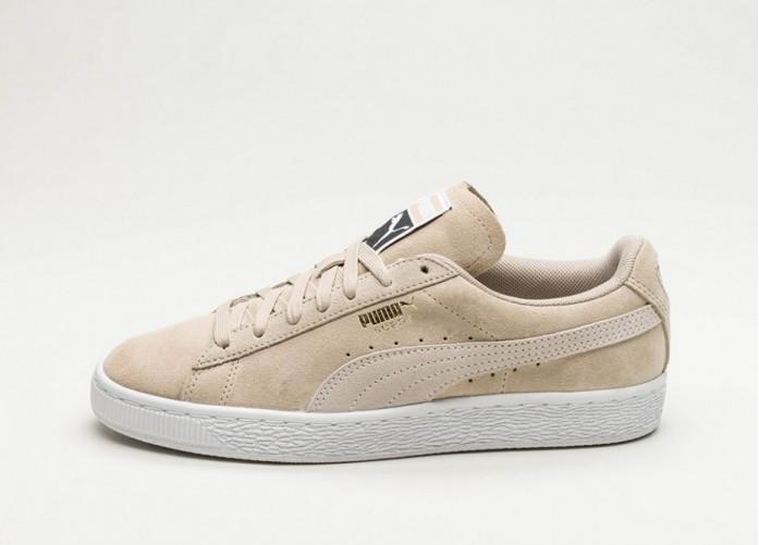 Женские кроссовки Puma Suede Classic (Safari / Puma White) - Women - Sneaker | Интернет-магазин Sole