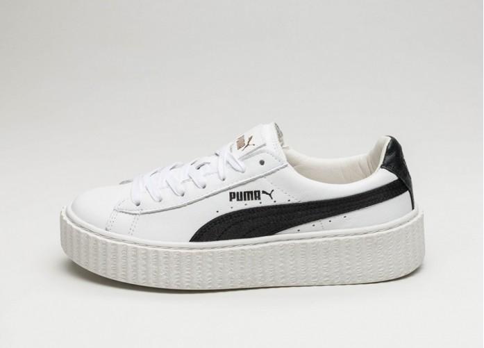 Женские кроссовки Puma x Rihanna Creeper *White & Black* (Puma White / Puma Black / Puma White) | Интернет-магазин Sole