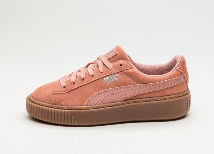 Женские кроссовки Puma Suede Platform Animal (Cameo Brown / Silver) - Women - Sneaker   Интернет-магазин Sole