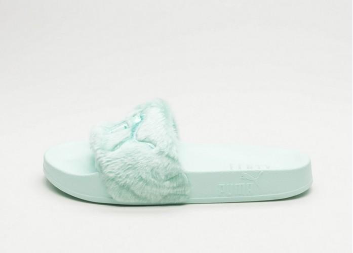 Женские кроссовки Puma x Fenty Fur Slide (Bay / Puma Silver) - Women - Sneaker | Интернет-магазин Sole