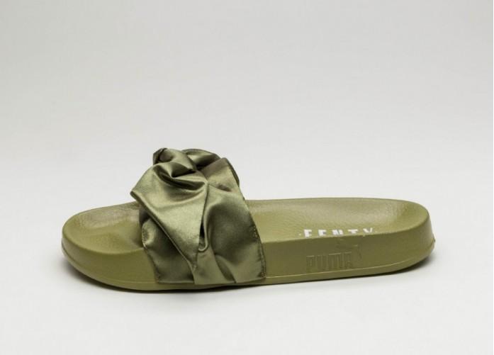 Женские кроссовки Puma x Fenty Bow Slide (Olive Branch - Puma Silver) - Women - Sneaker | Интернет-магазин Sole
