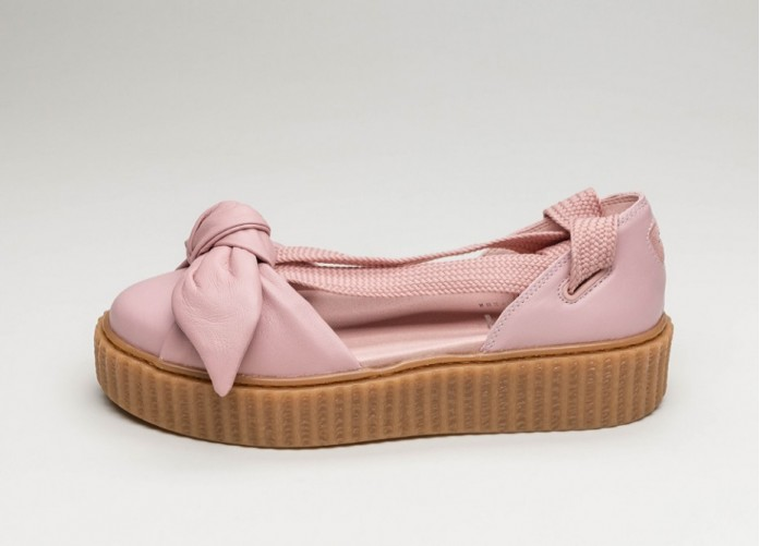 Женские кроссовки Puma x Fenty Bow Creeper Sandal (Silver Pink / Silver Pink / Oatmeal) - Women - Sneaker | Интернет-магазин Sole