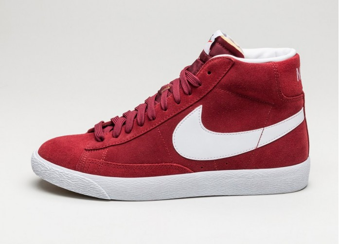 Женские кроссовки Nike Blazer Mid PRM (Team Red / White - Gum Light Brown)   Интернет-магазин Sole