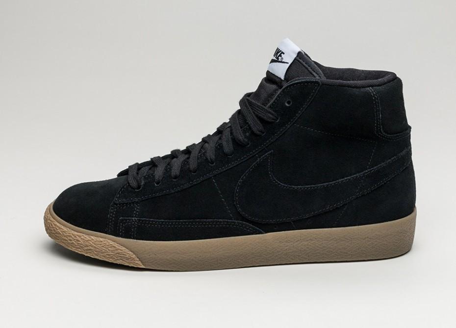 how to buy factory price pretty cheap Женские кроссовки Nike Blazer Mid PRM (Black / Black - Gum Light Brown) -  Women - Sneaker