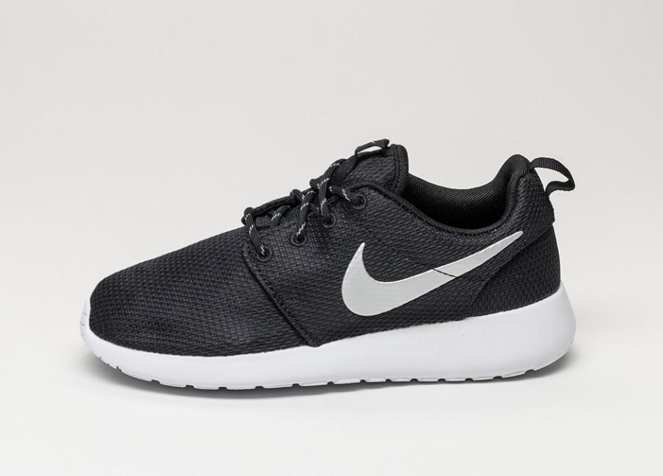 new concept de160 07492 Женские кроссовки Nike wmns Roshe Run (Black   Metallic Platinum - White)    Интернет