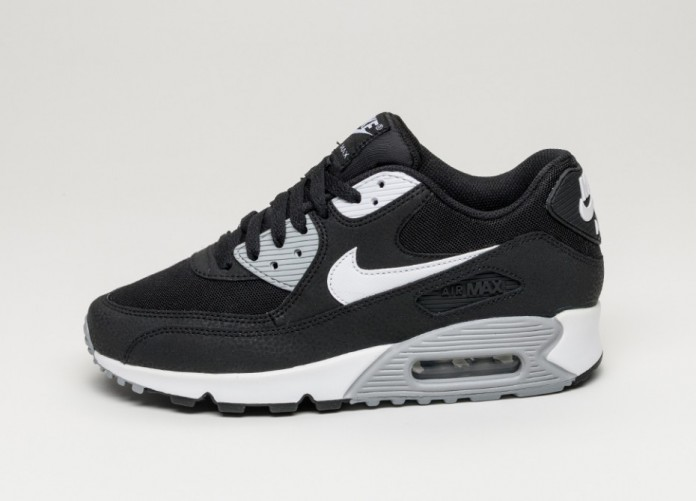 Женские кроссовки Nike wmns Air Max 90 Essential (Black / White - Wolf Grey) | Интернет-магазин Sole