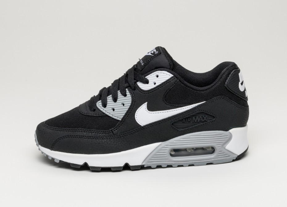 6341b941 Женские кроссовки Nike wmns Air Max 90 Essential (Black / White - Wolf Grey)