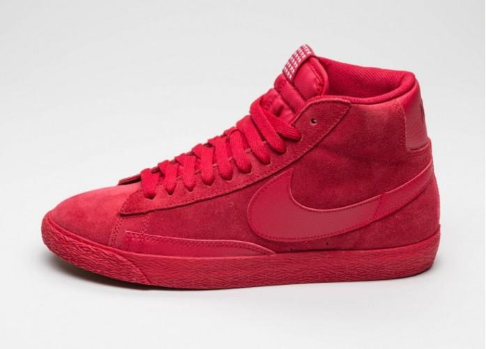 Женские кроссовки Nike Blazer Mid Premium Vintage (Gym Red / Gym Red - Gym Light Brown) | Интернет-магазин Sole
