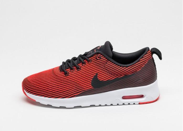 Мужские кроссовки Nike Wmns Air Max Thea Jacquard (Black / Black - Bright Crimson - White) | Интернет-магазин Sole