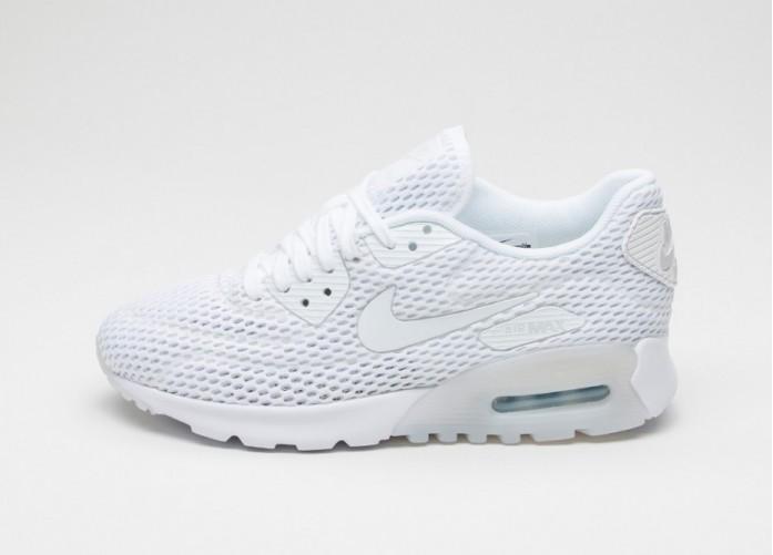 Мужские кроссовки Nike Wmns Air Max 90 Ultra BR (White / Pure Platinum - Pure Platinum)   Интернет-магазин Sole