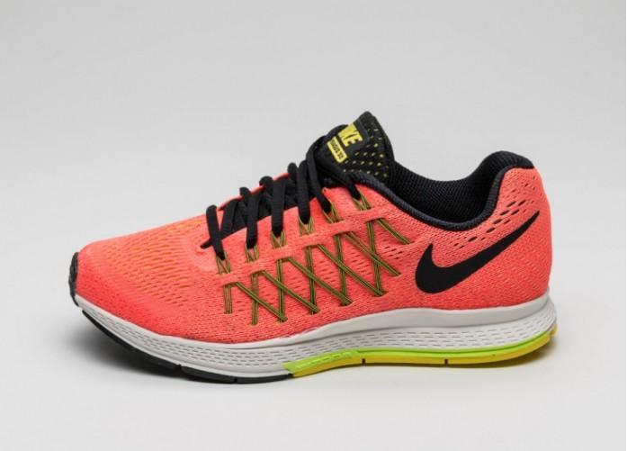 Мужские кроссовки Nike Wmns Air Zoom Pegasus 32 (Hyper Orange / Black - Violet - Optical Yellow)   Интернет-магазин Sole
