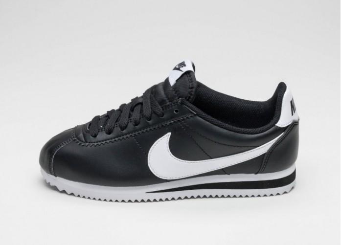 3a3d0bb1168 Женские кроссовки Nike Wmns Classic Cortez Leather (Black / White - White)  | Интернет