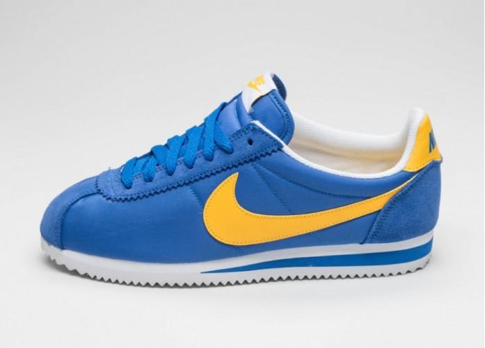 Мужские кроссовки Nike Classic Cortez Nylon (Varsity Royal / Varsity Maze - White)   Интернет-магазин Sole