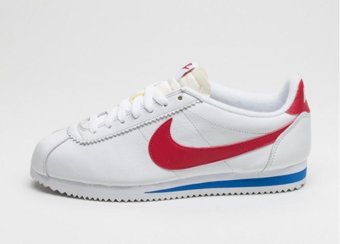 Мужские кроссовки Nike Classic Cortez Premium (White / Varsity Red - Varsity Royal) | Интернет-магазин Sole