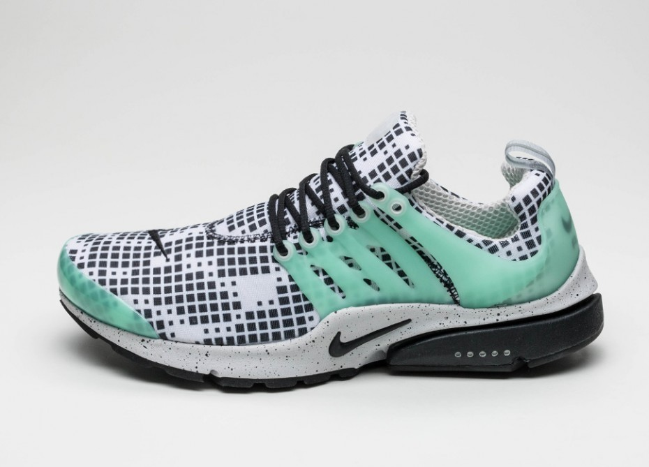 1a2bfded Мужские кроссовки Nike Air Presto GPX (White / Black - Green Glow - Natural  Grey