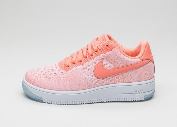 Мужские кроссовки Nike Wmns Air Force 1 Flyknit Low (Atomic Pink  Atomic  Pink)