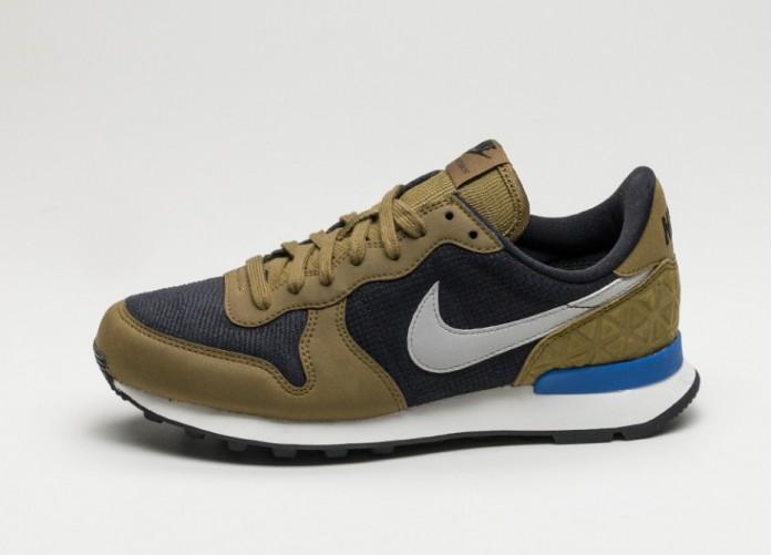 Женские кроссовки Nike Wmns Internationalist PRM (Black / Matte Silver - Olive Flak) | Интернет-магазин Sole