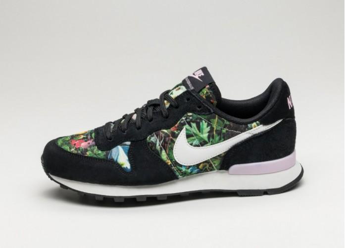 Женские кроссовки Nike Wmns Internationalist PRM (Black / Summit White - Prism Pink) - Women - Sneaker | Интернет-магазин Sole