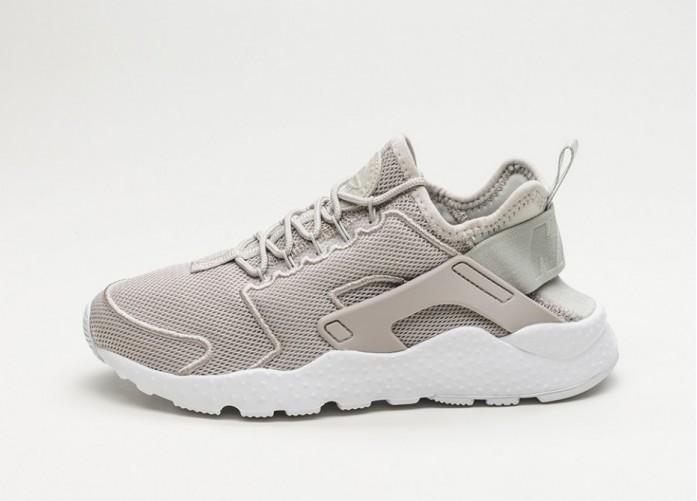 Женские кроссовки Nike Wmns Air Huarache Run Ultra BR (Pale Grey / Pale Grey - White - Glacier Blue) - Women - Sneaker | Интернет-магазин Sole