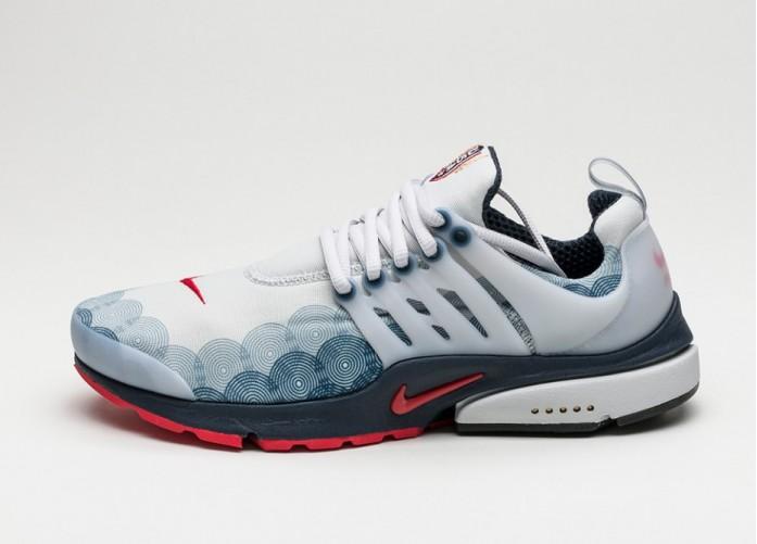 Женские кроссовки Nike Air Presto GPX *Olympic* (Neutral Grey / Comet Red - Obsidian - Black) | Интернет-магазин Sole