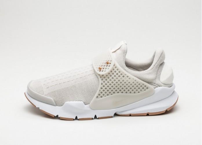 Женские кроссовки Nike Wmns Sock Dart (Light Bone / Sail - Sail - White)   Интернет-магазин Sole