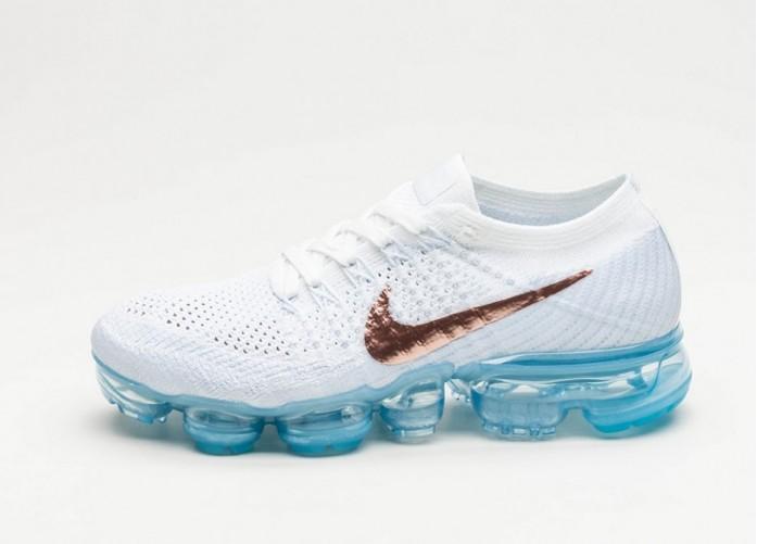 Женские кроссовки Nike Wmns Air Vapormax Flyknit (Summit White / Metallic Red Bronze) - Women - Sneaker | Интернет-магазин Sole