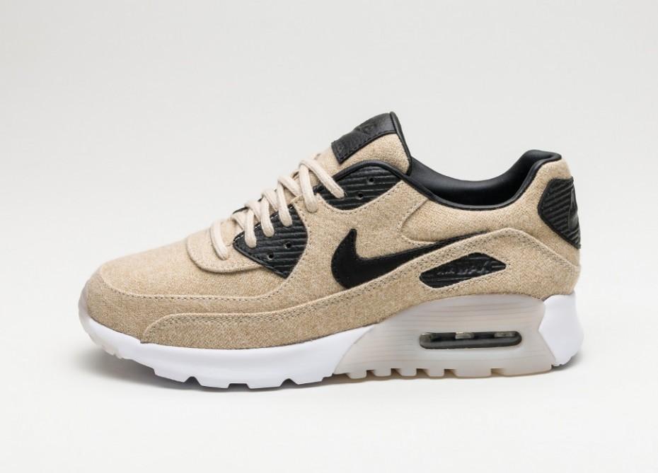 Женские кроссовки Nike Wmns Air Max 90 Ultra PRM (Oatmeal Black White)