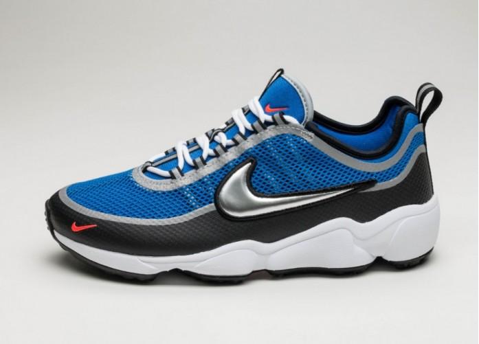 Женские кроссовки Nike Air Zoom Spiridon Ultra (Regal Blue / Metallic Silver - Black - Crimson) - Women - Sneaker | Интернет-магазин Sole
