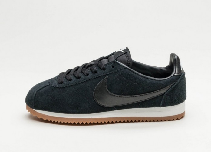 Женские кроссовки Nike Wmns Classic Cortez Suede (Black / Black - Summit White - Gum Medium Brown) | Интернет-магазин Sole