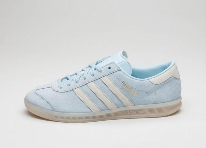 Женские кроссовки adidas Hamburg W (Ice Blue / Off White / Off White) | Интернет-магазин Sole