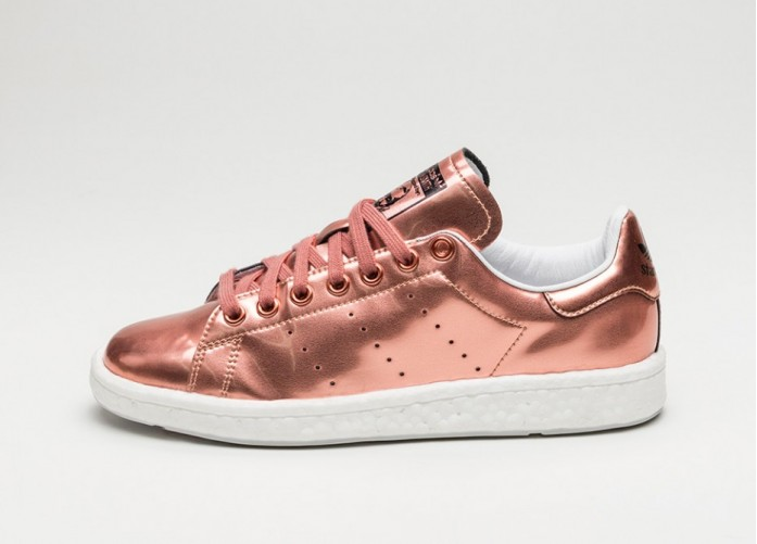 Женские кроссовки adidas Stan Smith Boost W (Copper Metallic / Copper Metallic / Ftwr White) - Women - Sneaker | Интернет-магазин Sole