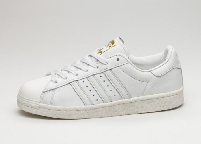 Женские кроссовки adidas Superstar Boost (Vintage White / Vintage White / Gold Metallic) - Women - Sneaker   Интернет-магазин Sole