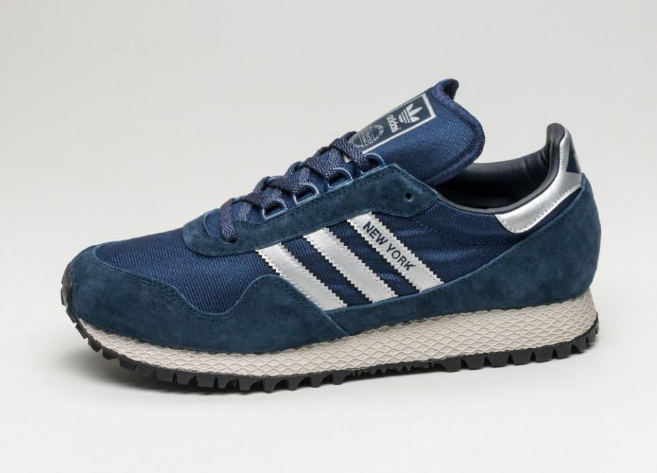Женские кроссовки adidas New York (Dark Blue   Matte Silver   Collegiate  Navy) - 736f346c2