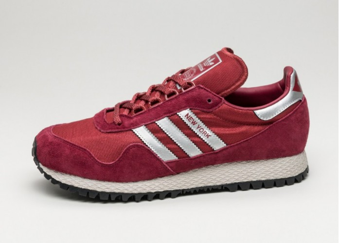 Женские кроссовки adidas New York (Collegiate Burgundy / Matte Silver / Mystery Red) - Women - Sneaker | Интернет-магазин Sole