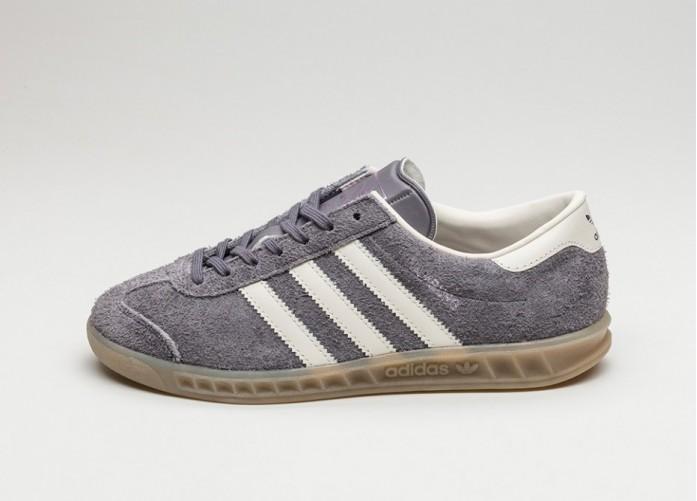 Женские кроссовки adidas Hamburg W (Trace Grey / Off White / Gum) - Women - Sneaker | Интернет-магазин Sole